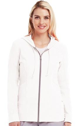 Clearance Active by Grey's Anatomy™ Women's Zip-Up Hoodie Solid Scrub Jacket