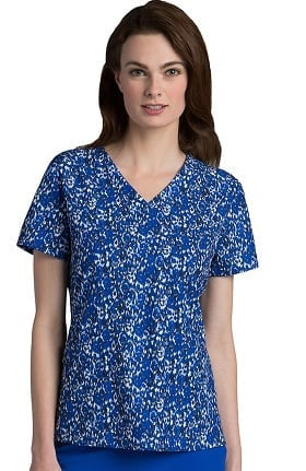 Clearance Barco One™ Women's V-Neck Animal Print Scrub Top