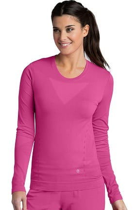 Clearance Barco One™ Women's Long Sleeve Seamless Solid T-Shirt