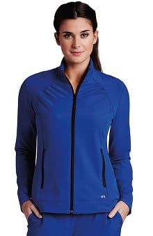 Barco ONE Women's Stand Collar Zip Up Solid Scrub Jacket