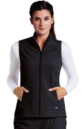 Barco One™ Women's Zip Front Solid Scrub Vest