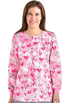 pink ribbon scrubs: Icu by Barco Uniforms Women's 2 Pocket Warm Up Jacket