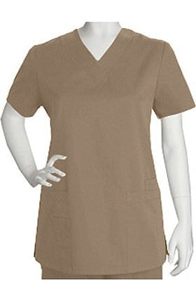 Clearance ICU by Barco Uniforms Women's 4 Pocket V-Neck Solid Scrub Top