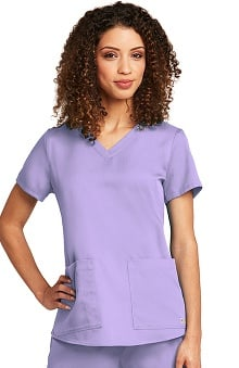 Grey's Anatomy™ Women's V-Neck Scrub Top with Shirred Back