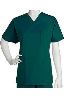 unisex tops: ICU by Barco Uniforms Unisex 3 Pocket Unisex V-Neck Solid Top