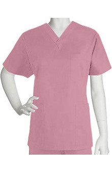 unisex tops: ICU by Barco Uniforms Unisex 3 Pocket Unisex V-Neck Solid Top