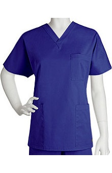 unisex tops: ICU by Barco Uniforms Unisex 3 Pocket V-Neck Solid Scrub Top