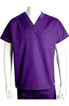 unisex tops: ICU by Barco Uniforms Unisex 1 Pocket Unisex V-Neck Solid Scrub Top