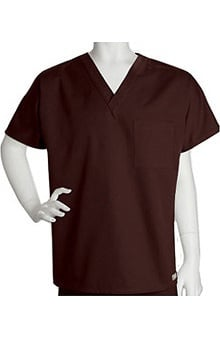 Clearance ICU by Barco Uniforms Unisex 1 Pocket V-Neck Solid Scrub Top
