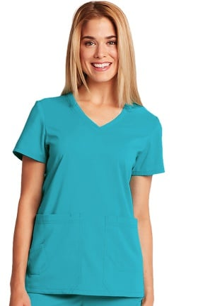 KD110 Women's V-Neck Solid Scrub Top