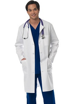 "Clearance Lab Coats by Barco Uniforms Men's Twill 40"" Lab Coat"