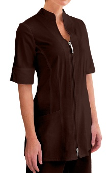 Verite by Barco Women's Sahar Basic Zip Solid Scrub Jacket