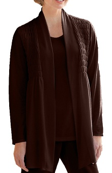 Verite by Barco Women's Gemma Knit Solid Scrub Jacket
