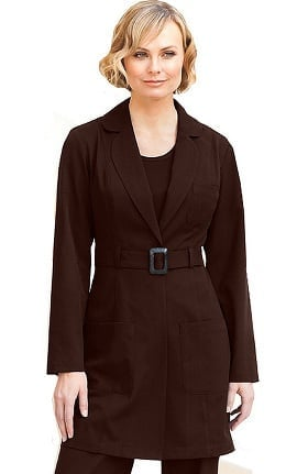 Clearance Verite by Barco Women's Adena Buckle Solid Scrub Jacket