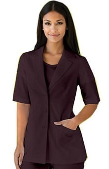 Verite by Barco Women's Perla Lapel Solid Scrub Jacket