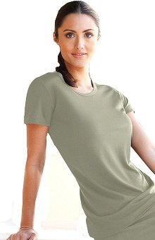 Clearance Verite by Barco Women's Tria Spa Short Sleeve Solid T-Shirt