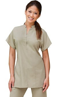 Verite by Barco Women's Terra Basic Tunic Solid Scrub Top