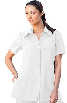 Verite by Barco Women's Bianca Placket Tunic Solid Scrub Top
