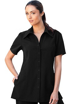 Clearance Verite by Barco Women's Bianca Placket Tunic Solid Scrub Top