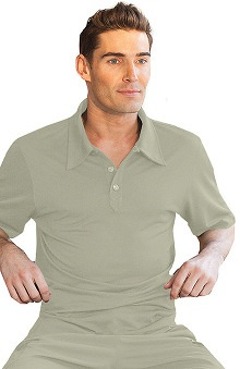 Verite by Barco Men's Dante Polo Solid Scrub Top