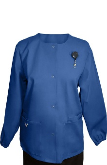 Boulevard Scrubs Women's Snap Front Solid Scrub Jacket