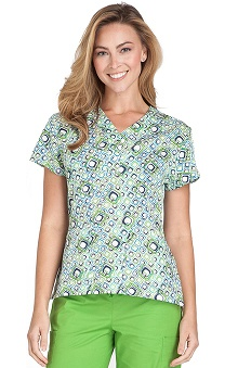 Crocs Uniforms Women's Y-Neck Print Top