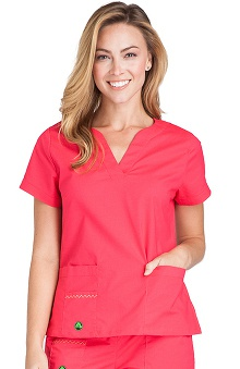 Clearance Crocs Uniforms Women's Vickie V-Neck Solid Scrub Top
