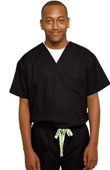 unisex tops: Crocs Uniforms Unisex V-Neck Solid Scrub Top