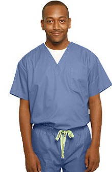 Clearance Crocs Uniforms Unisex V-Neck Solid Scrub Top
