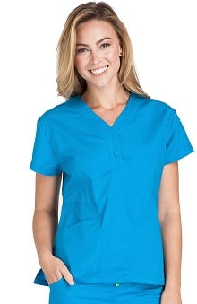 Scrubs: Crocs Women's Emily Y-Neck Solid Top