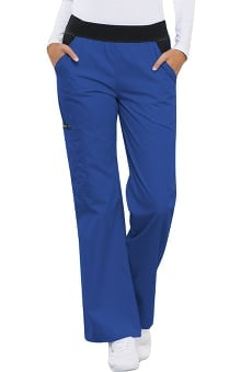 Flexibles by Cherokee Women's Knit Waistband Cargo Scrub Pant
