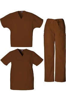 Cherokee Workwear Men's 2 Tops 1 Pant Scrub Set