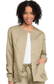 Clearance Luxe by Cherokee Women's Warm Up Solid Scrub Jacket