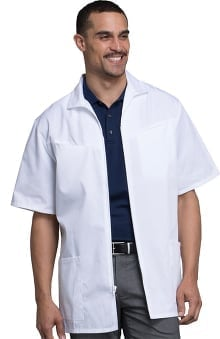 Cherokee Men's Med-Man Zip Front Lab Coat