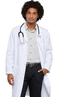 "Cherokee Men's Med-Man Back Belt 40"" Lab Coat"