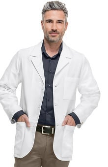Professional Whites by Cherokee with Antimicrobial Certainty Men's Consultation Lab Coat 31