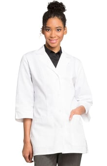 Professional Whites by Cherokee with Antimicrobial and Fluid Barrier Certainty Plus Women's 3/4 Sleeve Lab Coat 30