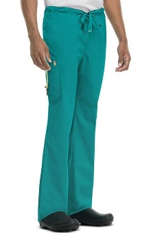 code happy™ with Certainty Plus Antimicrobial and Fluid Barrier Fabric Technology Men's Drawstring Cargo Scrub Pant