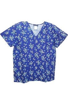 Clearance Cherokee Women's V-Neck Print Scrub Top