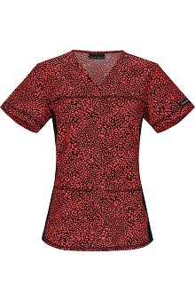 Clearance Flexibles by Cherokee Women's V-Neck Print Scrub Top
