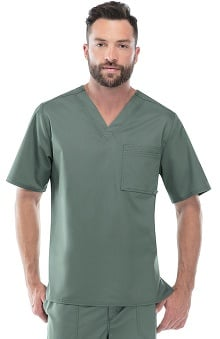 Luxe by Cherokee Men's  V-Neck Scrub Top