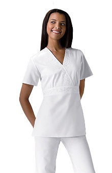 Cherokee Women's Obi Crossover Solid Scrub Top