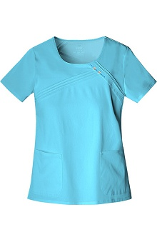 Scrubs: Luxe by Cherokee Women's Scoop Neck Solid Top