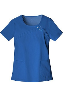Clearance Luxe by Cherokee Women's Scoop Neck Solid Scrub Top