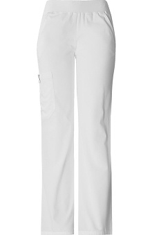 tall: Flexibles by Cherokee Women's Mid-Rise Knit Waist Scrub Pant