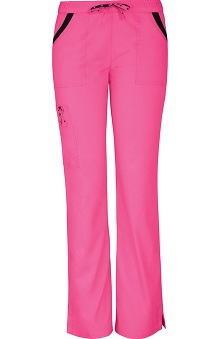 Clearance Pink with A Purpose by heartsoul Women's Charmed Low Rise Cargo Scrub Pant