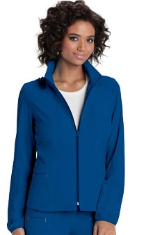 Break On Through by heartsoul Women's Hoodie Warm Up Solid Scrub Jacket