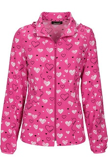 heartsoul Women's Hoodie Warm Up Love Print Jacket