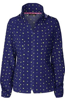 Heartsoul Women's Zip Front Print Warm-Up Jacket
