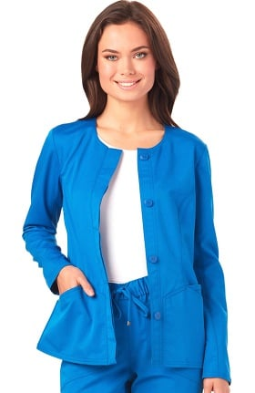 Head Over Heels by heartsoul Women's Warm My Heart Button Front Scrub Jacket